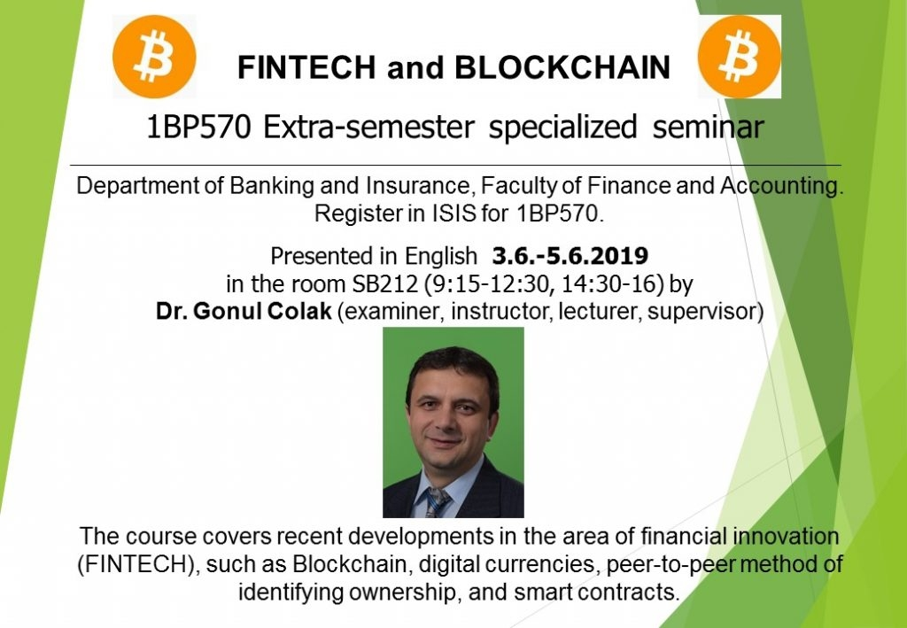 Fintech and Blockchain seminar
