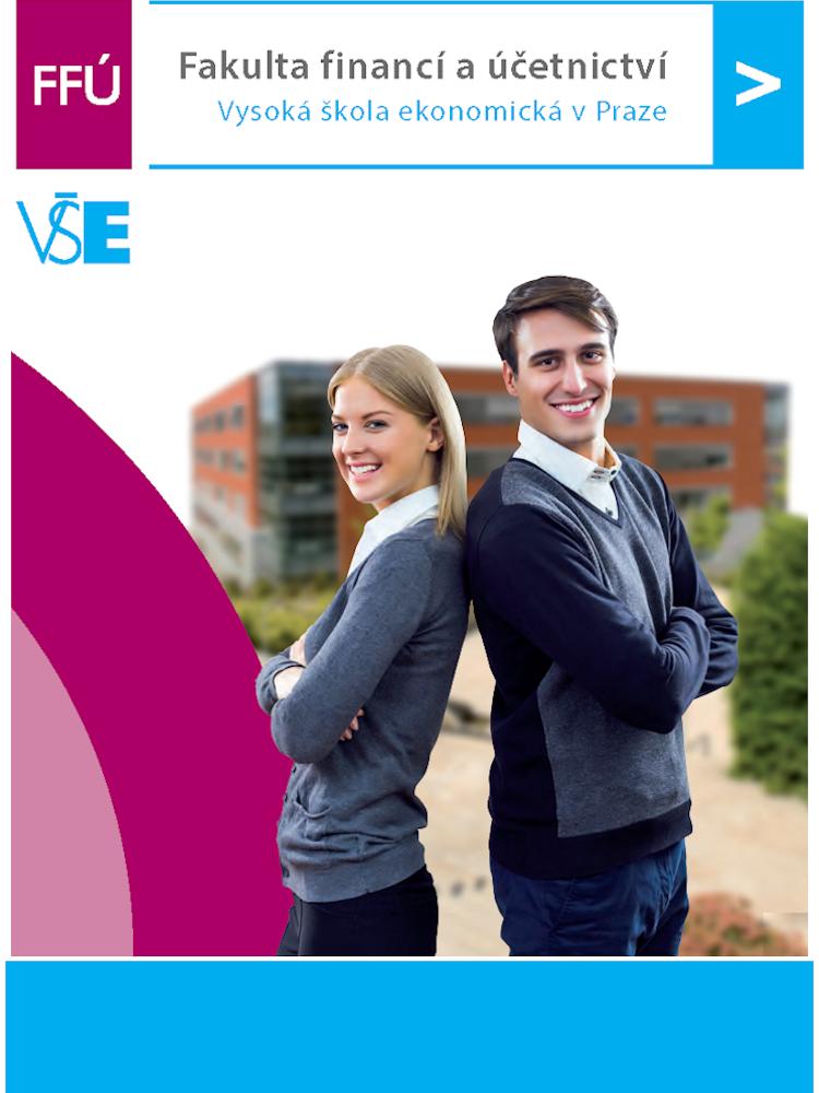 Propagační brožura Fakulty financí a účetnictví pro zájemce o studium.