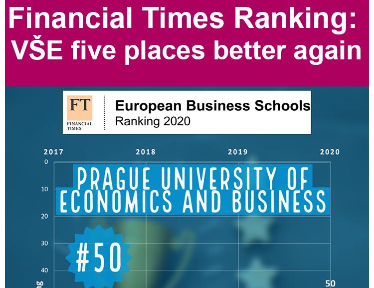 Financial Times opět zlepšil VŠE ranking o pět míst