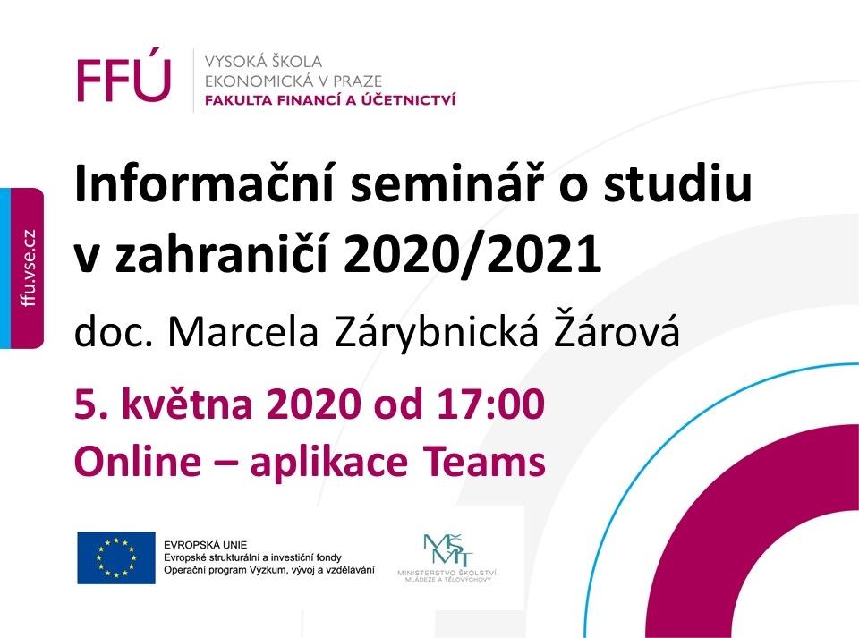Informační seminář pro studenty FFÚ o studiu v zahraničí