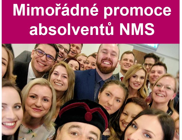 Mimořádné promoce absolventů NMS