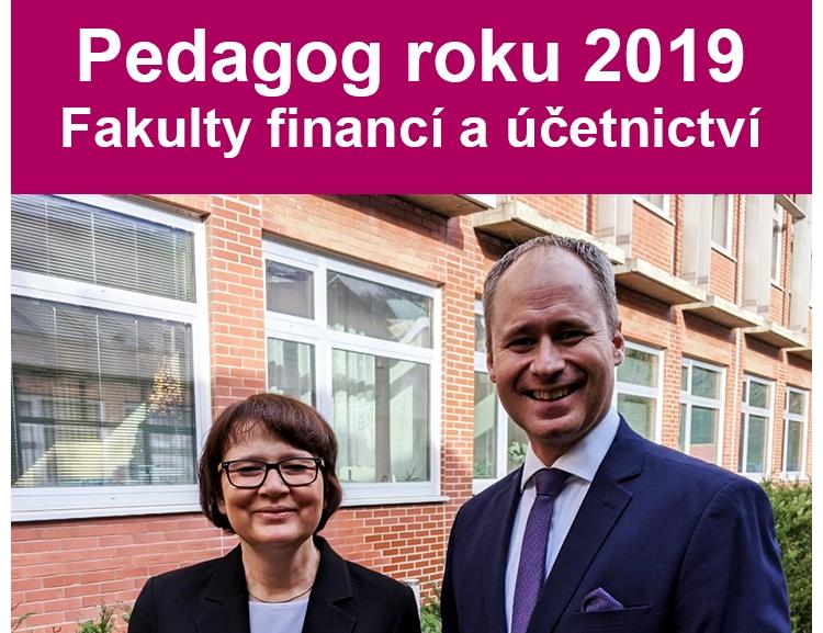 Pedagog roku 2019 Fakulty financí a účetnictví