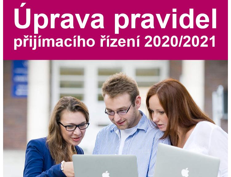 Úprava pravidel přijímacího řízení na FFÚ VŠE v Praze