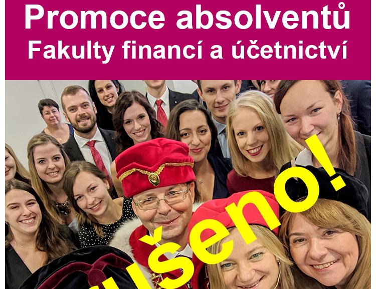 Promoce absolventů FFÚ