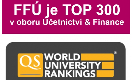 Fakulta financí a účetnictví je TOP 300 v QS World University Rankings by Subject 2020
