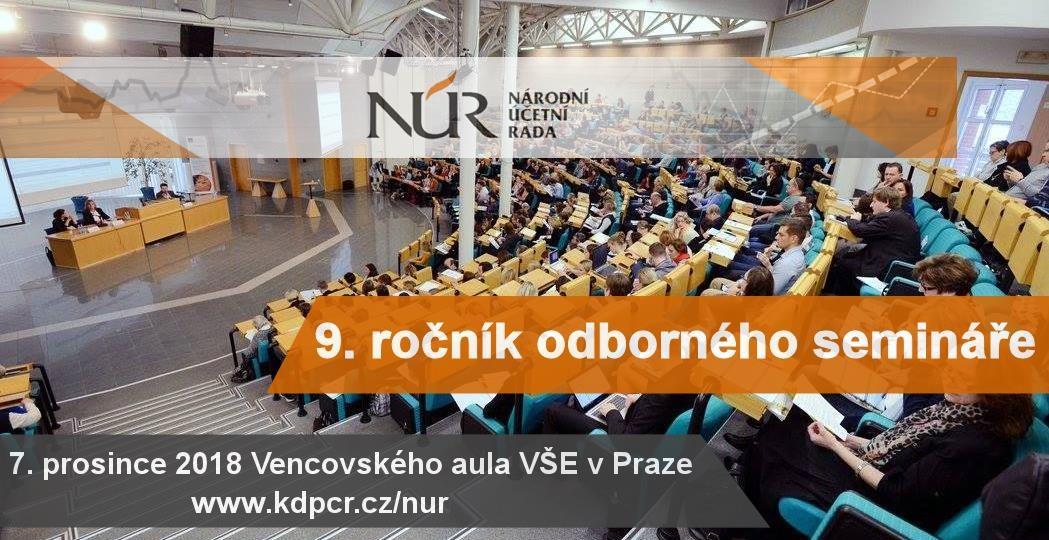 V pátek 7. prosince 2018 se ve Vencovského aule VŠE v Praze koná již 9. ročník odborného semináře Národní účetní rady (NÚR).