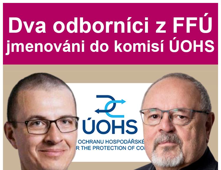 Dva odborníci FFÚ byli jmenováni členy rozkladových komisí ÚOHS