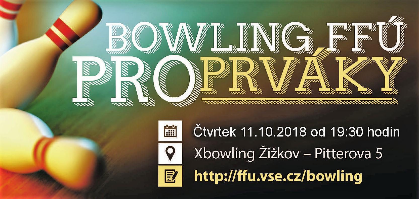 Bowling pro prváky FFÚ 2018