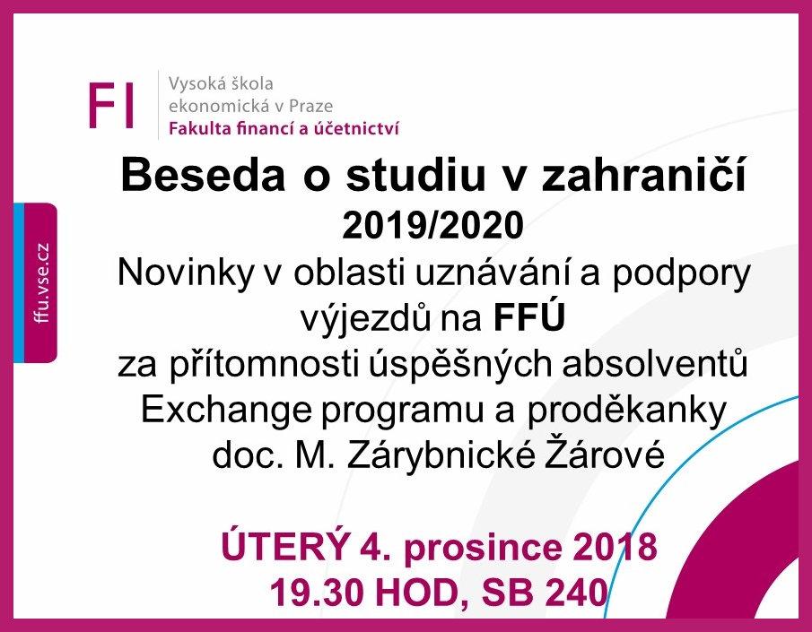 Fakultní beseda pro studenty FFÚ o studiu v zahraničí