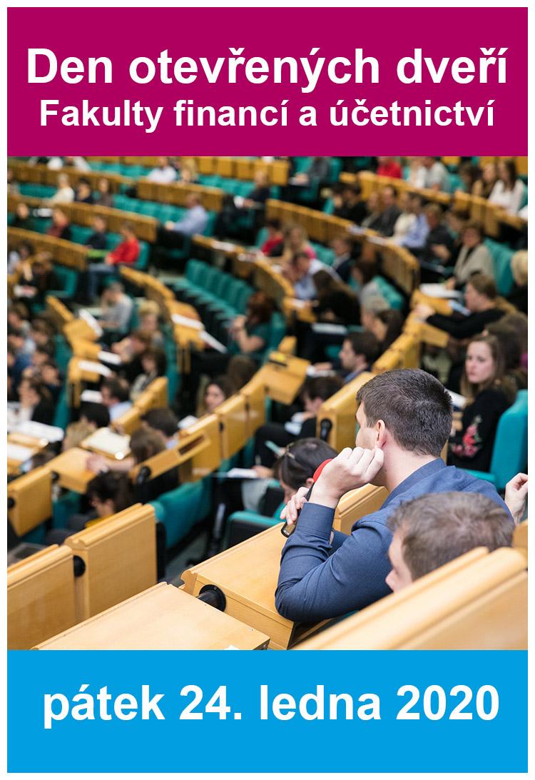 Den otevřených dveří Fakulty financí a účetnictví