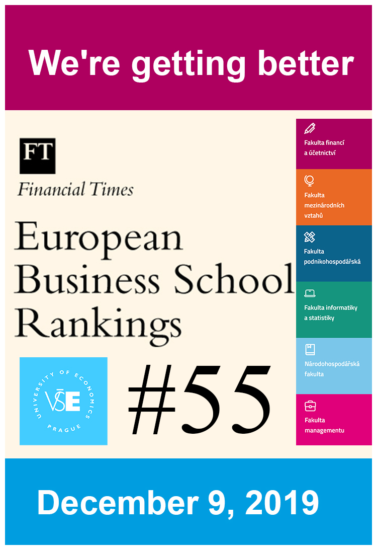 VŠE je #55 ve Financial Times European Business Schools Ranking 2019